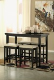 Ashley Kimonte 5pc Dark Brown Counter Height Dining Set Available Online in Dallas Fort Worth Texas