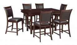 Ashley Collenburg 7pc Dark Brown Counter Height Dining Room Set Available Online in Dallas Fort Worth Texas