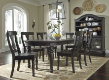 Ashley Sharlowe 7pc Black Dining Room Set Available Online in Dallas Fort Worth Texas