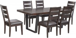 Ashley Parlone 7pc Dark Brown Dining Room Set Available Online in Dallas Fort Worth Texas