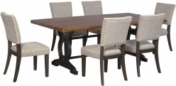 Ashley Zurani 7pc Brown & Black Dining Room Set Available Online in Dallas Fort Worth Texas