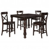Ashley Gerlane 5pc Dark Brown Counter Height Dining Room Set Available Online in Dallas Fort Worth Texas