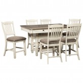 Ashley Bolanburg 7pc Counter Height Dining Set Available Online in Dallas Fort Worth Texas