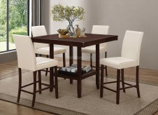 Coaster Fattori 5pc Cream Counter Height Dining Room Set Available Online in Dallas Fort Worth Texas