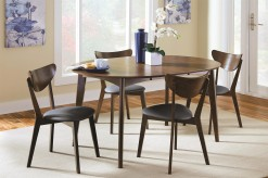 Coaster Malone 5pc Dark Walnut Dining Table Set Available Online in Dallas Fort Worth Texas