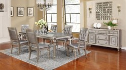 Coaster Danette 7pc Platinum Rectangular Dining Table Set Available Online in Dallas Fort Worth Texas