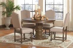 Coaster Rossine 5pc Antique Ash Brown Dining Table Set Available Online in Dallas Fort Worth Texas