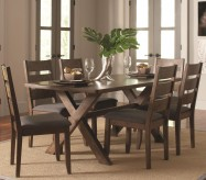 Coaster Alston 7pc Knotty Nutmeg Dining Table Set Available Online in Dallas Fort Worth Texas