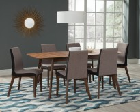 Coaster Redbridge 7pc Walnut Dining Table Set Available Online in Dallas Fort Worth Texas