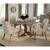 Coaster Florence 5pc Natural Round Dining Table Set Available Online in Dallas Fort Worth Texas