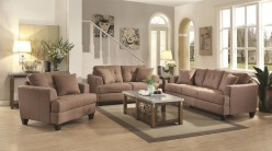 Coaster Samuel 2pc Mocha Sofa & Loveseat Set Available Online in Dallas Fort Worth Texas