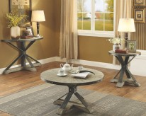 Coaster Rhett 3pc Grey Coffee Table Set Available Online in Dallas Fort Worth Texas
