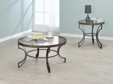 Coaster Fairhaven 3pc Bronze Coffee Table Set Available Online in Dallas Fort Worth Texas