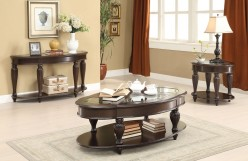 Coaster Mogan 3pc Dark Merlot Coffee Table Set Available Online in Dallas Fort Worth Texas