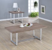 Coaster Marten 3pc Weathered Taupe Coffee Table Set Available Online in Dallas Fort Worth Texas