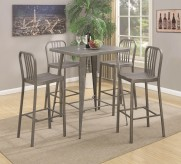 Coaster Sawatt 5pc Gunmetal Counter Height Dining Table Set Available Online in Dallas Fort Worth Texas