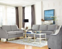 Coaster Isabelle 2pc Grey Sofa & Loveseat Set Available Online in Dallas Fort Worth Texas