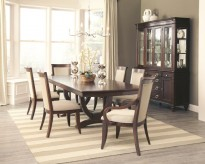Coaster Alyssa 7pc Brown Dining Room Set Available Online in Dallas Fort Worth Texas