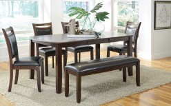 Coaster Dupree 6pc Brown Dining Room Set Available Online in Dallas Fort Worth Texas