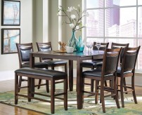 Coaster Dupree 8pc Brown Counter Height Dining Room Set Available Online in Dallas Fort Worth Texas