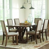 Coaster Bridgeport 7pc Weathered Acacia Dining Table Set Available Online in Dallas Fort Worth Texas