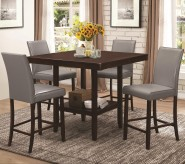 Coaster Fattori 5pc Grey Counter Height Dining Room Set Available Online in Dallas Fort Worth Texas