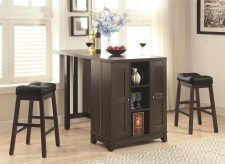 Coaster Sofie 3pc Cappucino Counter Height Dining Room Set Available Online in Dallas Fort Worth Texas