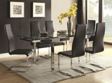 Coaster The Mark 7pc Black Dining Table Set Available Online in Dallas Fort Worth Texas
