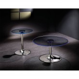 Coaster Sandy Beach 3pc LED Chrome Coffee Table Set Available Online in Dallas Fort Worth Texas