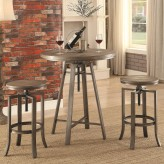 Coaster Cabrillo 3pc Nutmeg Pub Table and Stool Set Available Online in Dallas Fort Worth Texas
