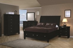 Sandy Beach Black 5pc Cal King Storage Bedroom Group Available Online in Dallas Fort Worth Texas