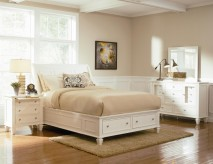 Sandy Beach 5pc White Cal King Sleigh Storage Bedroom Group Available Online in Dallas Fort Worth Texas