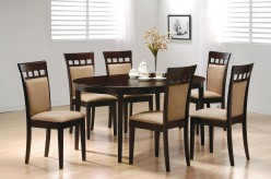 Coaster Hyde Oval 7pc Cushion Back Dining Room Set Available Online in Dallas Fort Worth Texas