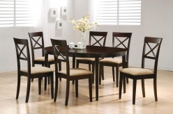 Coaster Hyde Oval 7pc Cross Back Dining Room Set Available Online in Dallas Fort Worth Texas