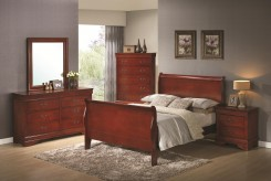 Coaster Louis Philippe 5pc Cherry Cal King Bedroom Set Available Online in Dallas Fort Worth Texas