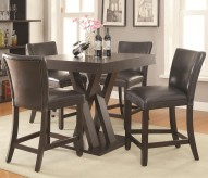 Coaster Bar Units and Bar Tables 5pc Cappuccino Dining Table Set Available Online in Dallas Fort Worth Texas