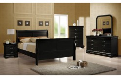 Louis Philippe 5pc Black Queen Sleigh Bedroom Group Available Online in Dallas Fort Worth Texas