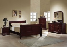 Coaster Louis Philippe 5pc Cherry Queen Sleigh Bedroom Group Available Online in Dallas Fort Worth Texas