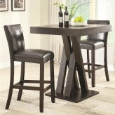 Coaster Selva 3pc Cappuccino Counter Height Dining Room Set Available Online in Dallas Fort Worth Texas