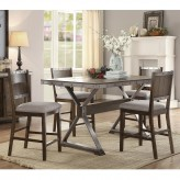 Coaster Beckett 5pc Dark Oak Counter Height Rectangular Dining Room Set Available Online in Dallas Fort Worth Texas