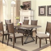 Coaster Beckett 7pc Dark Oak Dining Table Set Available Online in Dallas Fort Worth Texas