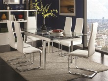 Coaster The Mark 7pc White Dining Table Set Available Online in Dallas Fort Worth Texas