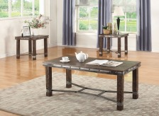 Coaster Salooned 3pc Dark Brown Coffee Table Set Available Online in Dallas Fort Worth Texas