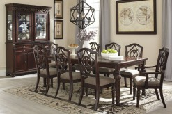 Ashley Leahlyn 9pc Reddish Brown Dining Table Set Available Online in Dallas Fort Worth Texas