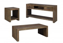 Ashley Sommerford 3pc Brown Coffee Table Set Available Online in Dallas Fort Worth Texas