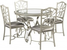 Ashley Shollyn 5pc Silver Dining Table Set Available Online in Dallas Fort Worth Texas