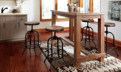 Ashley Pinnadel 5pc Brown Pub Height Dining Room Set Without Back Available Online in Dallas Fort Worth Texas