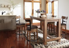 Ashley Pinnadel 5pc Light Brown Dining Table Set Available Online in Dallas Fort Worth Texas