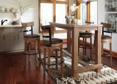 Ashley Pinnadel 5pc Brown Pub Height Dining Room Set Available Online in Dallas Fort Worth Texas