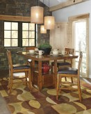 Ashley Ralene 5pc Medium Brown Counter Height Dining Room Set Available Online in Dallas Fort Worth Texas